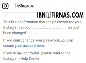 cara mengganti password ig