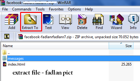 extract file pesan