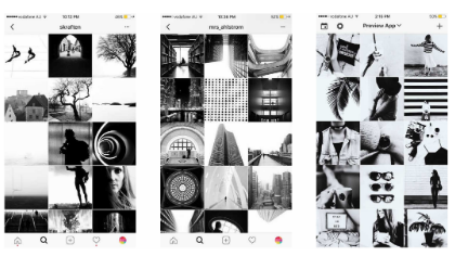 feed instagram black and white