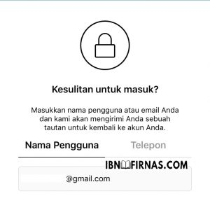 mengatasi lupa password instagram