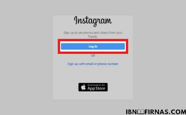 login aplikasi instagram