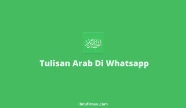 tulisan arab di whatsapp