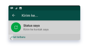 cara upload videos WA status